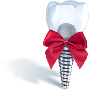 Implant with a bow