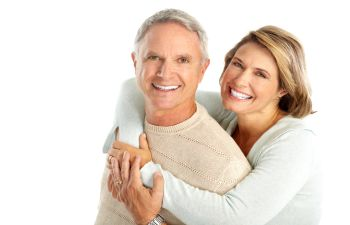 Older Couple With Dental Implants